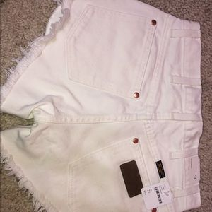 Free People Reworked Wrangler Shorts
